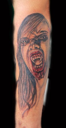 Tattoos - vampire girl - 40000