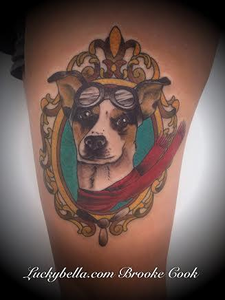 Tattoos - aviator dog - 91747
