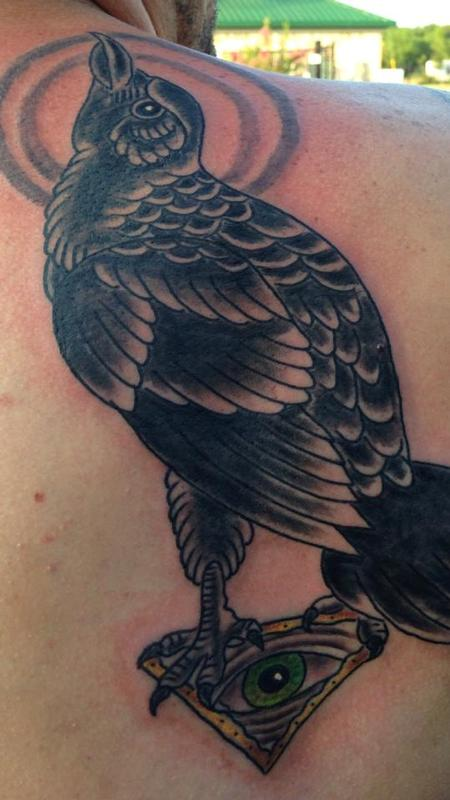 Tattoos - raven and eye - 87657