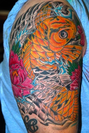 Tattoos - koi half sleeve - 47230
