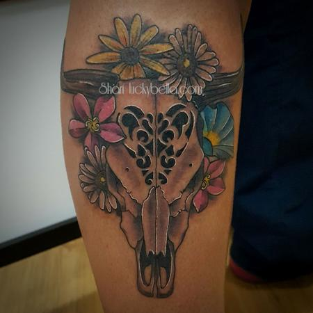 Tattoos - cow skull - 129537