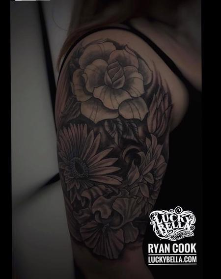 Tattoos - flowers  - 127052