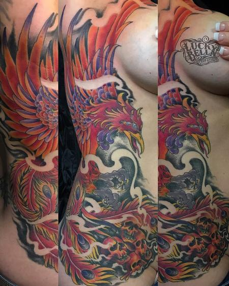 Tattoos - Pheonix Side Piece  - 138977