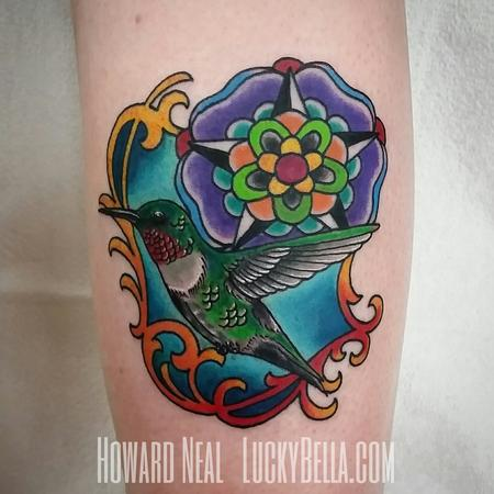 Tattoos - Ornamental Hummingbird - 101570