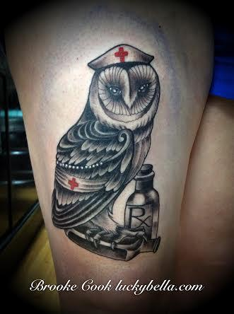 Tattoos - nurse owl - 89196