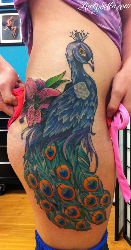 Tattoos - peacock - 66178