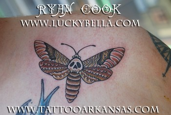 Tattoos - death moth - 48072