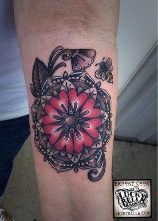Tattoos - heart mandala - 101676