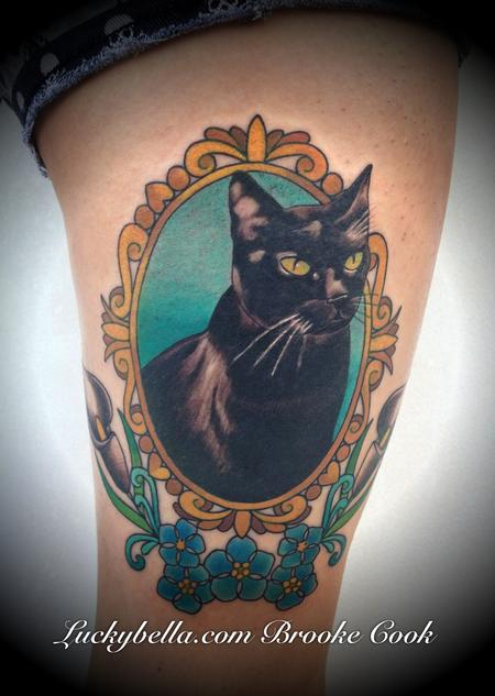 Tattoos - traditional cat portrait - 79068