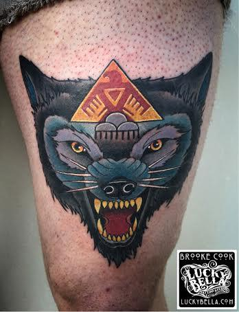 Tattoos - neo traditional wolf - 115910
