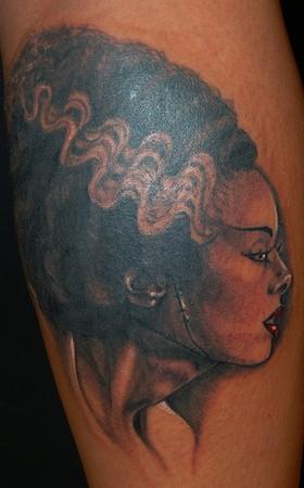 Tattoos - bride of frankenstein tattoo - 41425