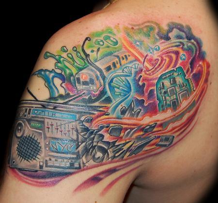 Tattoos - Boombox Whirlpool Tattoo - 56327