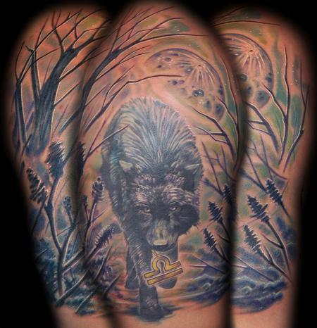Tattoos - Dark Wolf Tattoo - 60177