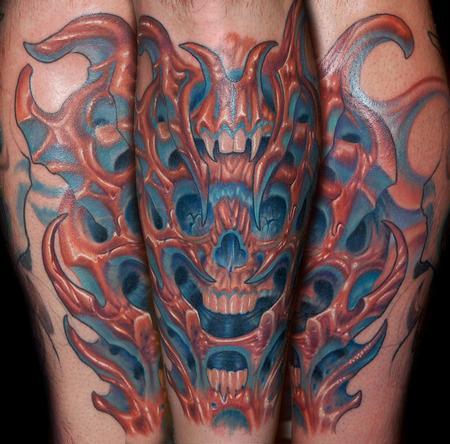 Tattoos - Bio Organic Skull Tattoo - 60292