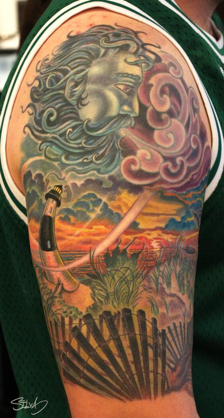 Art by Marvin Silva : Tattoos : Whim : Custom Long Island Lighthouse ...