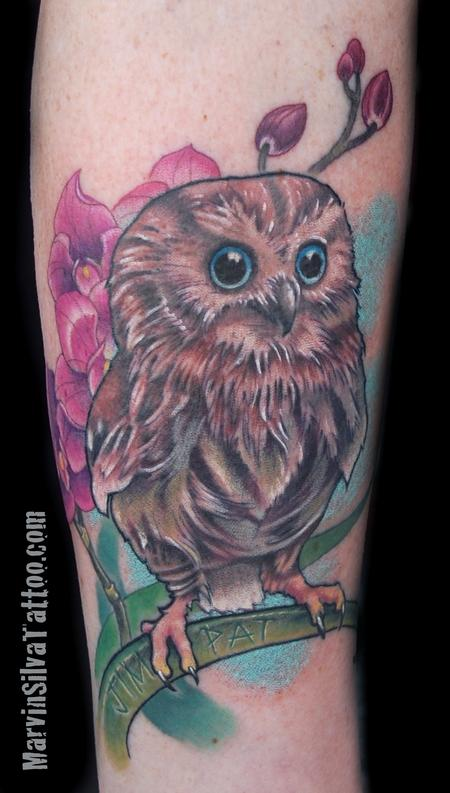 Tattoos - Baby Owl Tattoo - 77277