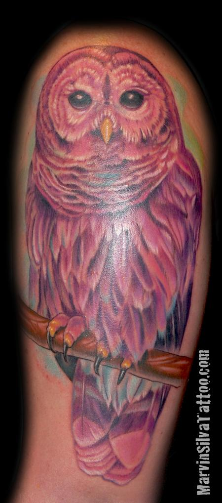 Tattoos - Barred Owl Tattoo - 75633