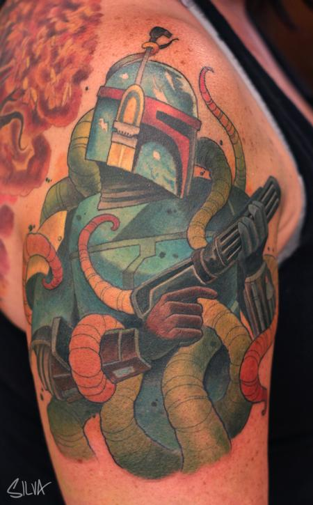 Tattoos - Custom Boba Fett Tattoo - 109001