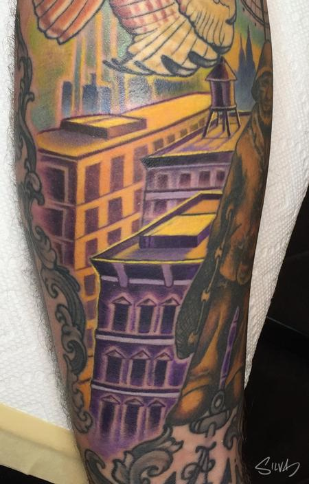 Tattoos - Custom Rooftop Tattoo - 109004