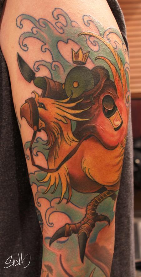 Marvin Silva - Custom Final Fantasy Tattoo