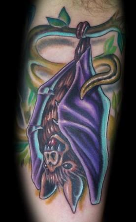 Marvin Silva - Upside down bat tattoo