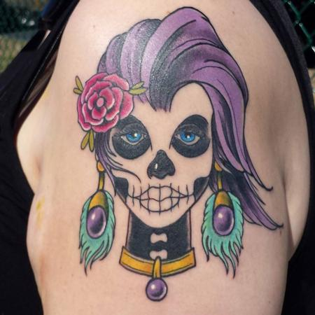 Day of the Dead Lady Head Design Thumbnail
