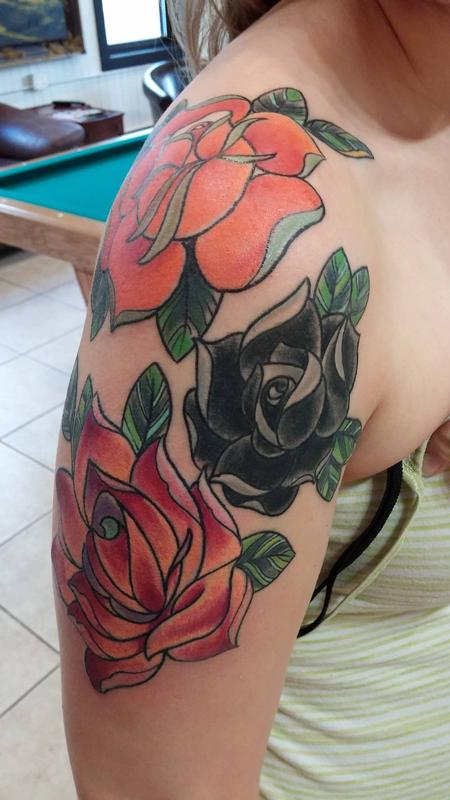 Roses on Arm Design Thumbnail