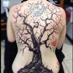 Tree On Back Tattoo Design Thumbnail