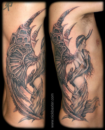 Tattoos - Angel With Key - 11270