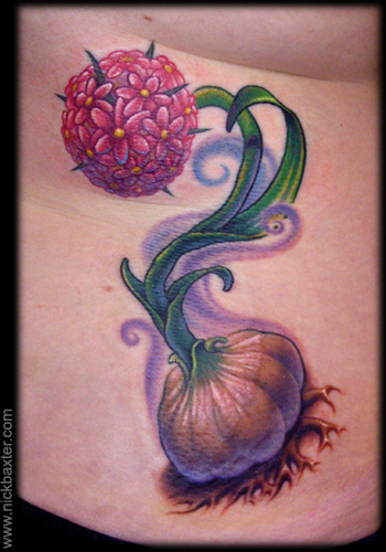 Tattoos - Garlic Flower - 31302