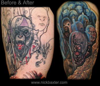 Tattoos - Orc Battle Sleeve (Cover Up Detail) - 10401