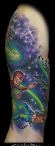 Tattoos - Shooting Stars Half sleeve (Front) - 6852