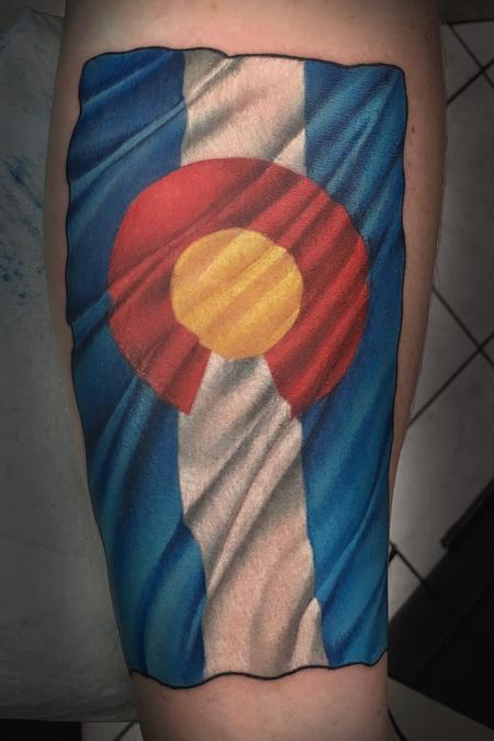 Tattoos - Colorado Flag - 128557