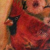 Cardinal Tattoo Design Thumbnail