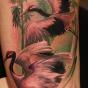 Tattoos - Red Crown Cranes - 115423
