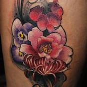 Tattoos - Family Flowers - 132105