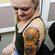 Kirstie's Sunflowers Tattoo Design Thumbnail