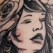 Sun Girl Tattoo Design Thumbnail