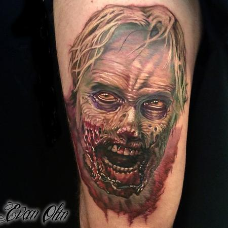 color realistic zombie tattoo Tattoo Design Thumbnail