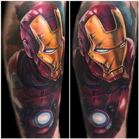 color realistic Iron Man tattoo Tattoo Design Thumbnail