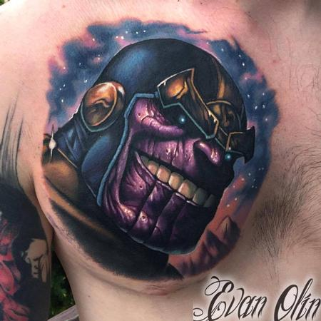 Evan Olin - Thanos tattoo