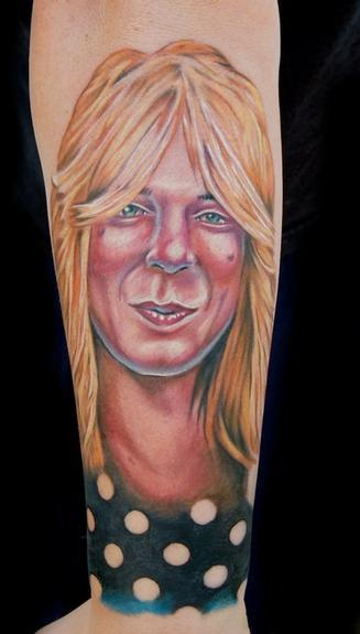 Evan Olin - Randy Rhodes portrait tattoo