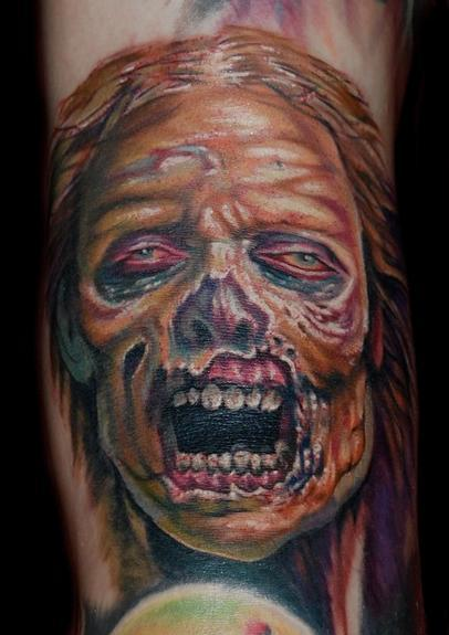 Evan Olin - realistic zombie tattoo