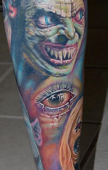 Evan Olin - Realistic sickly eyeball tattoo