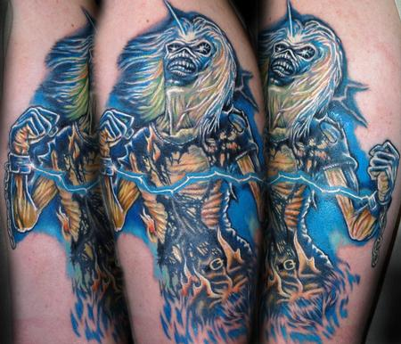 Evan Olin - Realistic Iron Maiden Eddie tribute tattoo