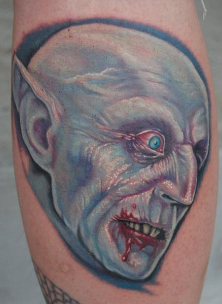 Evan Olin - Full Color Vampire/Nosferatu Tattoo