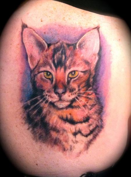 Jessica Brennan - cat portrait. back