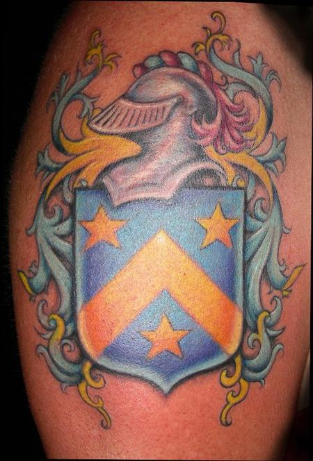 Tattoos - coat of arms. arm - 65431