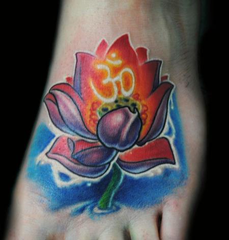Picture Flower Tattoos on Powerline Tattoo   Tattoos   Flower Lotus   Ohm Lotus