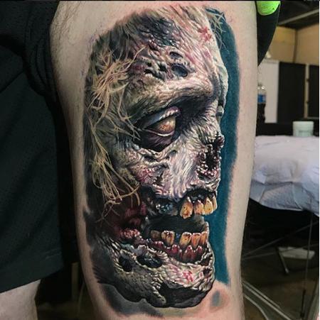 526ea8025cb5d PowerLine Tattoo : Tattoos : Movie Horror : Walker (zombie)